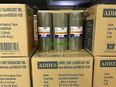 36 Rolls Premium Brown Carton Box Sealing Packing Tape 2 Mil Thick 2