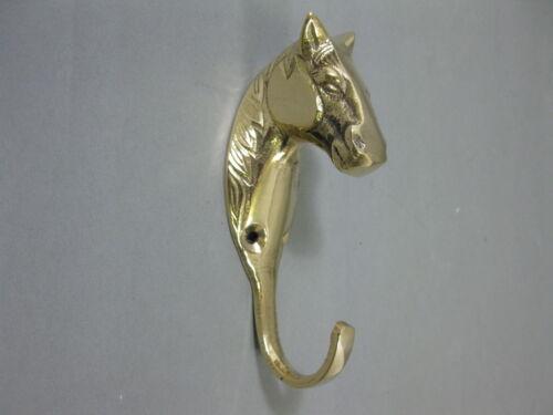 Coat Hooks Coat Hook Horse Brass Hook 4 11/16in Wardrobe Snaffle