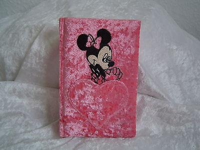 Disney Minni Maus Adressbuch lachsrosa Samt