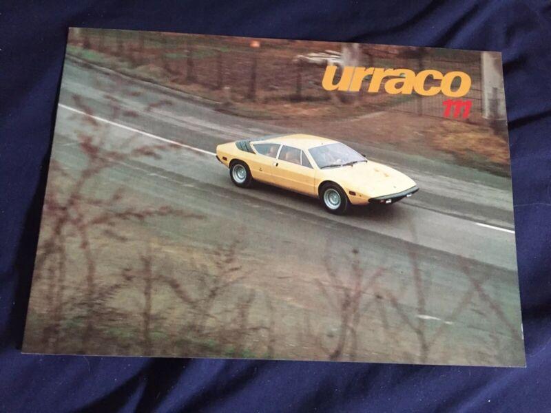 1970s Lamborghini Urraco 111 Original Color Brochure Prospekt