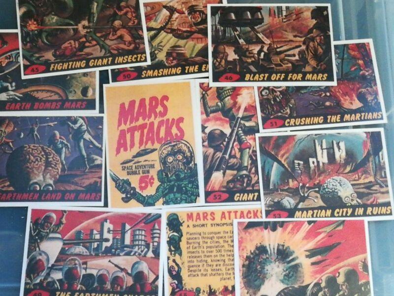 Mars Attacks complete set cards reprints USA.