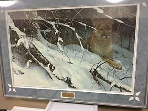 "Robert Bateman ""cougar in the snow"""