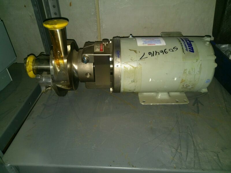 Fristam FPR 1741 0902754 Stainless Steel Sanitary Centrifugal Pump, 1HP BALDOR