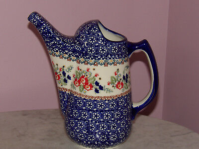 Polish Pottery Watering Can! UNIKAT Signature Exclusive Zoey Pattern!