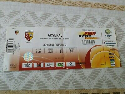 Ticket : RC Lens - Arsenal 22.07.2016 Amical