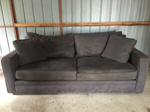 Charcoal Grey 3 seater lounge Moss Vale Bowral Area Preview