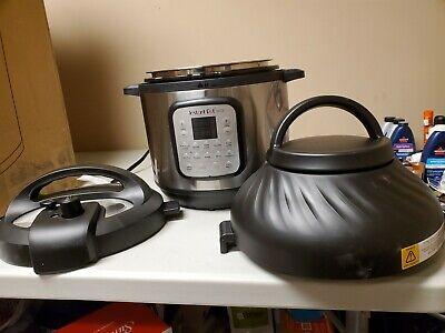 Instant Pot Duo Crisp Air Fryer Pressure Cooker 11 In 1 8 Quart Dented
