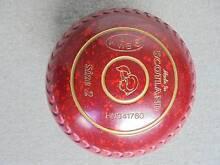 Taylor Redline SR Lawn Bowls Size 2H Red Speckled Stamped WB 21 Warrawee Ku-ring-gai Area Preview
