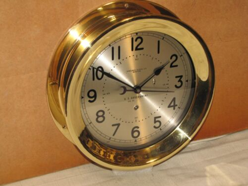 CHELSEA U.S.AIR FORCE CLOCK~8 1/2 IN~CIRCA 1955~HINGED~MINT~RESTORED