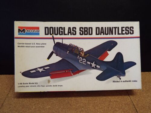 Monogram #6830,  Douglas SBD Dauntless - 1/48 Scale - Vintage 1973 Kit
