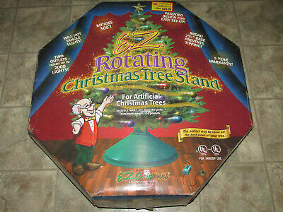 E.Z. ROTATING CHRISTMAS TREE STAND 2Outlets 2000Lights Rotates 360 Artificial