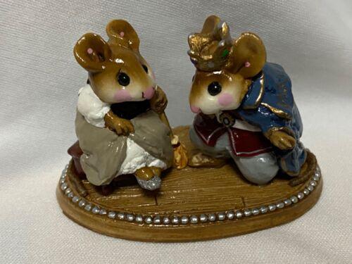 Wee Forest Folk Retired Cinderella Slipper with Prince