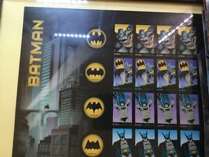 Batman 75th anniversary Hotwheels and stamp set