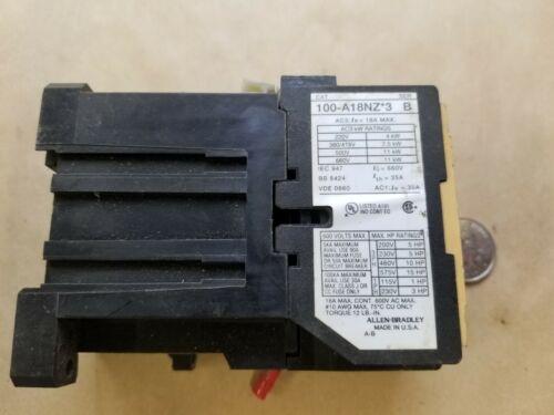 A-B/Allen-Bradley 100-A18NZ*3 Contactor SER B