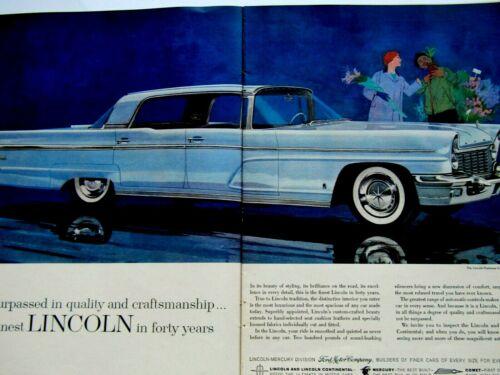 "1960 Lincoln Landau Lincoln Premier 4 door 2 Page Original Print Ad 8.5 x 11"""