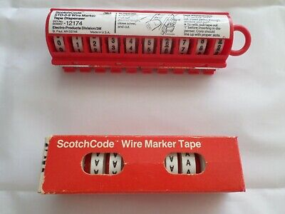 3m - Scotchcode Std-0-9 Wire Marker Tape Dispenser - 0-9 With Extra Rolls Of A
