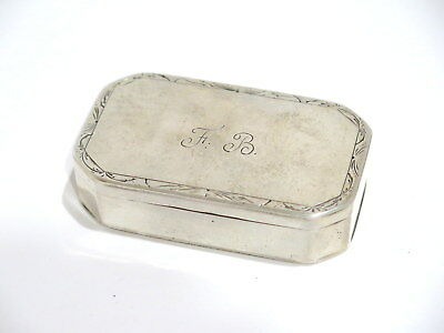3 1/8 in - Sterling Silver Antique Swedish Angelholm c. 1912 Snuff Box