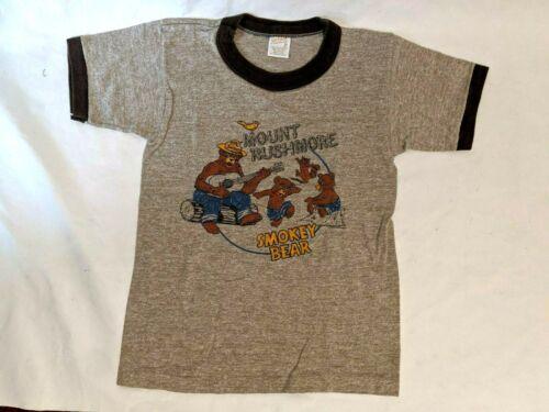 Vintage 1980s Smokey the Bear Mount Rushmore Kids T-Shirt Size Medium