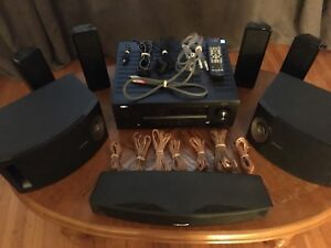 Denon AVR-1912 7.1 Channel Receiver w/7 Speakers + Speaker Wire