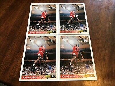 Michael Jordan 1992-93 Upper Deck 4 card lot