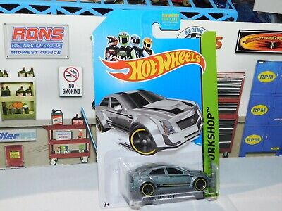 2013 Hot Wheels HW Workshop #152 Cadillac CTS-V Gray Kmart Exclusive