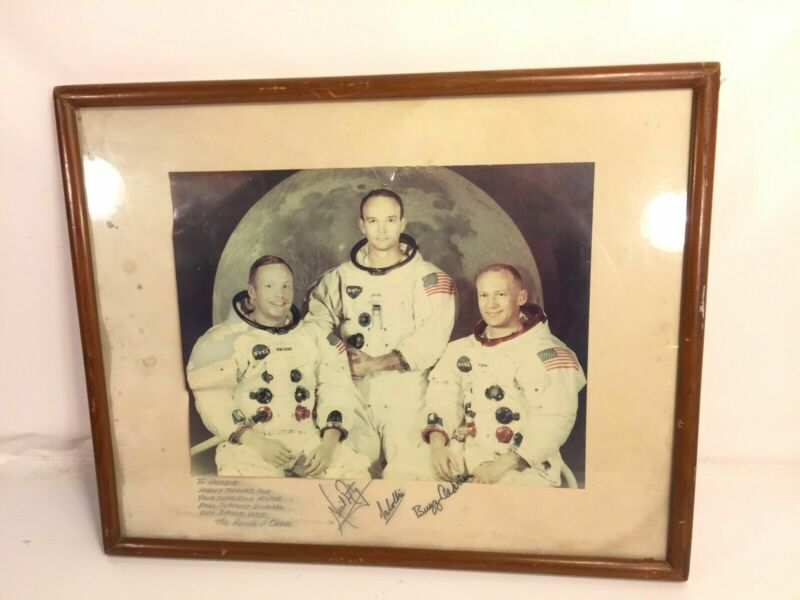 Apollo 11 NASA Signed Thank You Picture Dacca Visit Aldrin Armstrong Collins USA