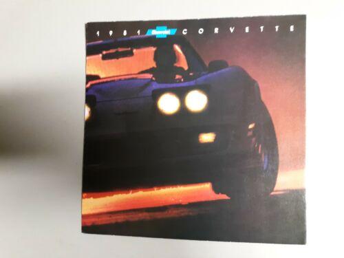 1981 brochure Chevrolet Corvette