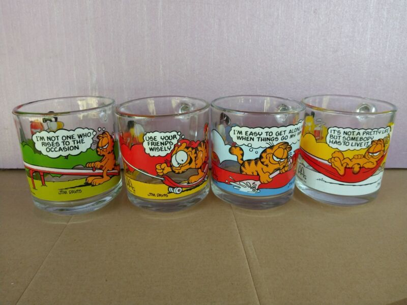 Garfield collector glass cups