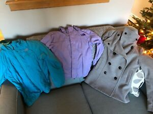 3 girls coats  size 10-12 mint condition
