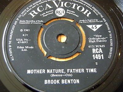 """BROOK BENTON - MOTHER NATURE, FATHER TIME / YOU'RE MINE    7"""" VINYL"""