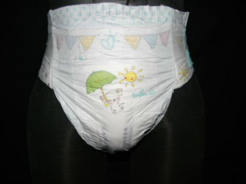 2 modified pampers baby-dry size(8) 41+Lbs with (double tabs)