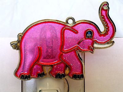 "STAINED GLASS STYLE ""ELEPHANT ""  NIGHT LIGHT-GREAT GIFT FOR ALL OCCASIONS!"