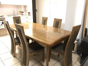 One of a Kind designer dining Table and 6 chairs