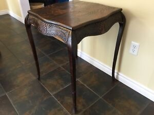 Antique table/side board/solid wood