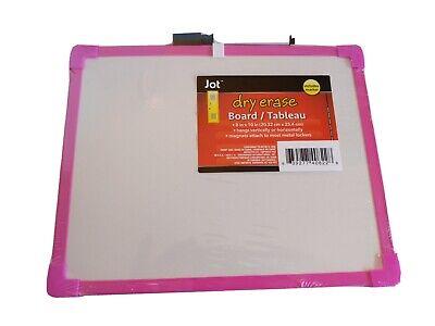 2.49 Jot Dry-erase Boards 8 X 10 Dry-erase Markers Pink Framed