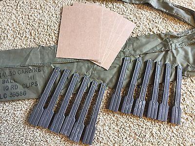 M1 Carbine Repack Kit 12 Stripper Clips, 30 cal Bandoleer USGI bandolier