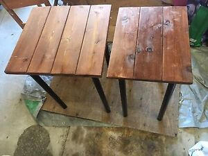 Custom wooden collapsible tables