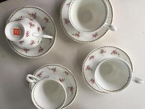 4 set of T2 - rose pattern tea cups Lilyfield Leichhardt Area Preview