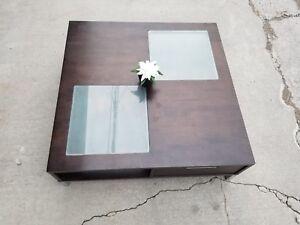Modern dark brown coffee table