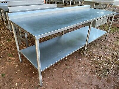 Heavy Duty 96 X 31.5 Commercial Stainless Steel Work Kitchen Prep Table Drawer