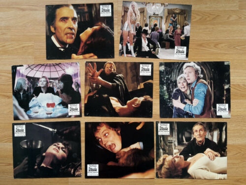 HAMMER - DRACULA A.D. 72 - 8 vintage German lobby cards CUSHING Christopher Lee