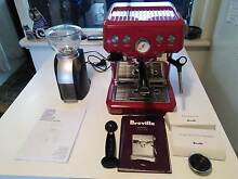 Breville BES840 Coffee Machine, DeLonghi Grinder with accessories Wembley Downs Stirling Area Preview