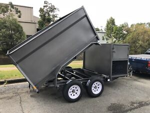 New 2.8t Ramtip Mowers Trailer Front/Rear 8'x6'x1100/Box's Au Built