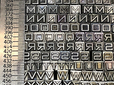 Bank Gothic 12 Pt. Small - Letterpress - Metal Type - Printers Type