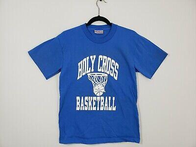 Vintage Reebok Holy Cross Basketball Tee Shirt Men's Sz Large Fits Like Medium Reebok Basketball Tee