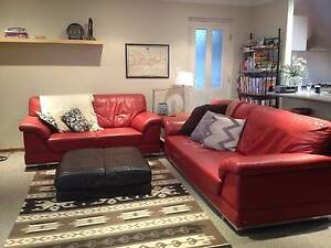 2+3 SEAT QUALITY LEATHER SOFA's bought from AtHome EXCELLENT COND Wilson Canning Area Preview