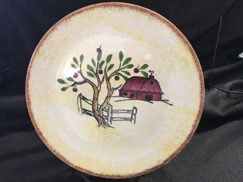 """Blue Ridge Southern Potteries Plate 9 1/4"""" RED BARN"""