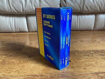 Very Rare 1990 First Edition Atari St Books Collection Leisure with Floppy Disks
