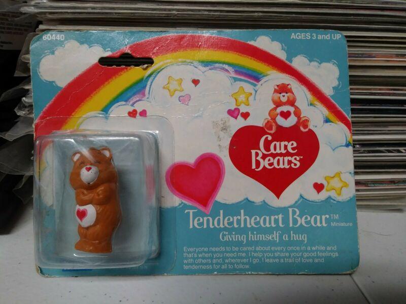 "Vintage Care Bears ""Tenderheart Bear Giving Himself a Hug"" Figure Kenner"