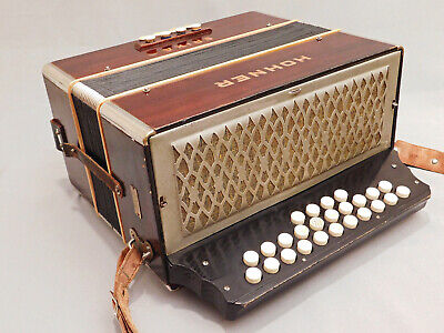 VINTAGE HOHNER  ERICA diatonic accordion made in Germany